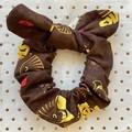Large AFL Hawthorn Hawks - bunny ear bow - scrunchies - women - children