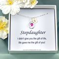 Stepdaughter Personalized Necklace,Gift for Step daughter,Stepdaughter Necklace,