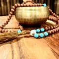 Turquoise 108 Bead Mala Necklace