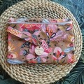 Zippered Makeup bag.