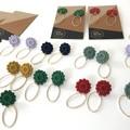 Flower Press Drop Earrings