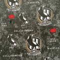 Large AFL Collingwood Pies - bunny ear bow - scrunchies - women - children