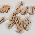 Dachshund (Short Hair) - Woodimal - Handcut Premium Wooden Puzzle