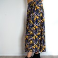 Mustard Flower Wrap Skirt