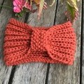 Australian 100% Alpaca Hand knitted head warmer.