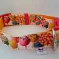 Candy print adjustable dog collar medium