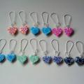 Polymer clay heart charm earrings