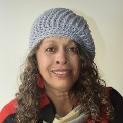 Hand-Crocheted Beret - Grey