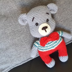 """ Vincent "" Crochet Teddy Bear"