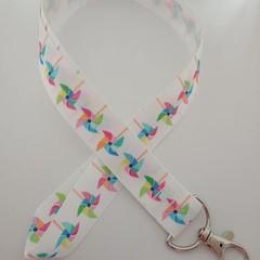 Pinwheel print lanyard / ID holder / badge holder