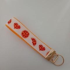 Pizza print key fob wristlet