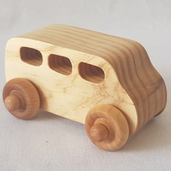 MiniVan - PlayPals - Handcrafted Wooden Toy Car