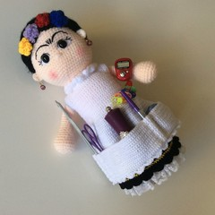 Frida Kahlo Pincushion Accessory Holder