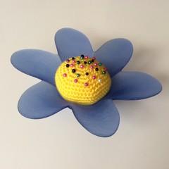 Blue Flower Pincushion