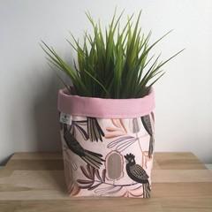 CUSTOM SUSIE | Pair of Small fabric planters