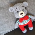 """ Vincent "" Crochet Teddy Bear"