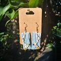 Beaded Stripe Earrings