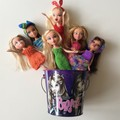 Bucket of 6 Bratz Dolls - Knitted Outfits