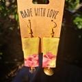 Gold & Pink Dangle Earrings