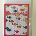 You are so kind framed card - fish. Thank you, friendship card