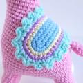 Llama soft toy; alpaca softie; crochet pink llama; birthday gift