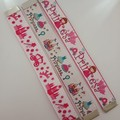 Princess print webbing bookmarks