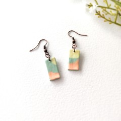Minimalist Small Jewelry Handmade Polymer Clay Statement Earrings