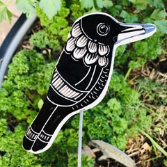 Magpie  garden stake