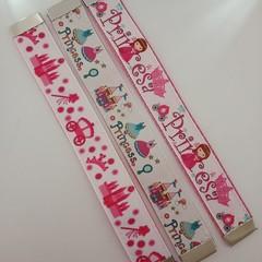 Princess print webbing bookmarks