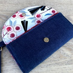 Fold Up Wallet, Clutch Purse with Carry Strap- Willy Wag Tail