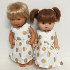 Miniland and Minikane Dolls   Dress to fit 38cm Dolls