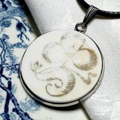 Antique Three Leaf Clover Pendant