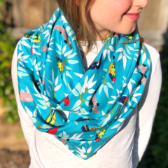Luxurious Soft Feel Infinity Scarf - Australian Birds
