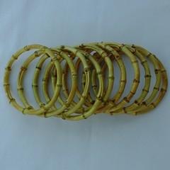10 x Bamboo rings 14.5cm