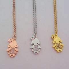 Princess charm bling necklaces