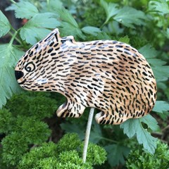 Wombat  garden stake
