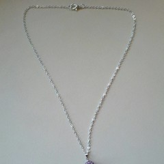Purple ball celestial pendant silver necklace