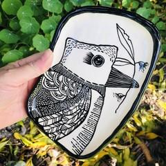 Large Kookaburra  plate