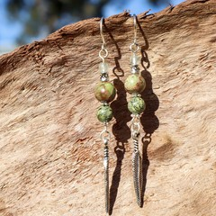 Jasper Green Billie Earrings