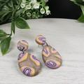 Gem Stone Pebbles Teardrop Dangle earrings - Handcrafted dangle earrings - Sml