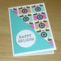 Happy Birthday card - cameras