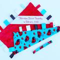 FREE POST ~ LADYBUG Baby Security Blanket Blankie Taggie Toy + Free Taggie Saver