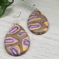 Gem Stone Pebbles Teardrop Dangle earrings - Handcrafted dangle earrings