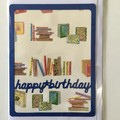 Happy birthday framed card - cat, fish, books and car variations