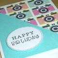 Happy Birthday card - cameras