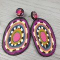 Zara Dangle Earrings - Polymer Clay - Large