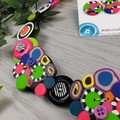 Bubble Pop Multicoloured - Necklace Buttons and Polymer - Jewellery - Earrings