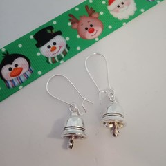 Silver bell / Crirstmas earrings