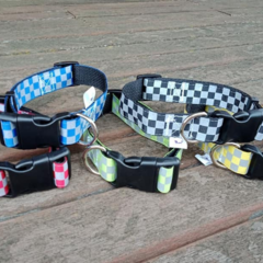 Reflective webbing adjustable dog collars medium / large