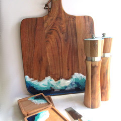 Resin Ocean Themed Cheese Board Engagement or Wedding Package